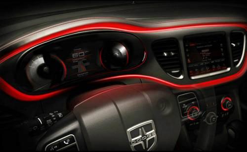 Dodge опубликовал изображения интерьера нового седана Dart
