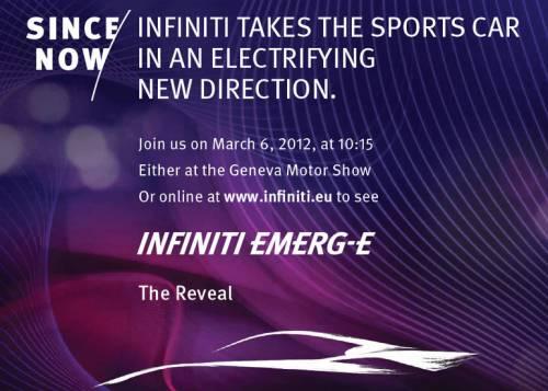 Infiniti назвал имя концепта электромобиля для Женевы