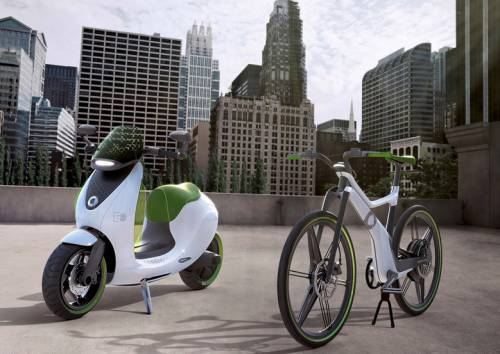 Электрический скутер от Smart