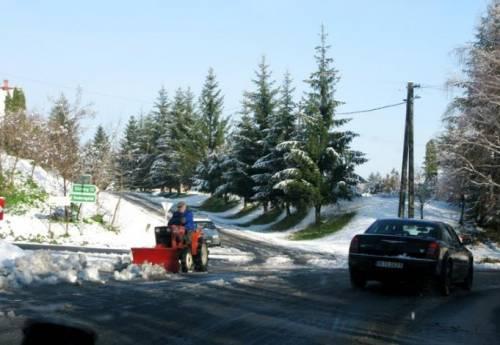 Венгрия нас провожала неожиданно наступившей зимой