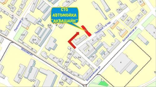 Карта проезда к СТО