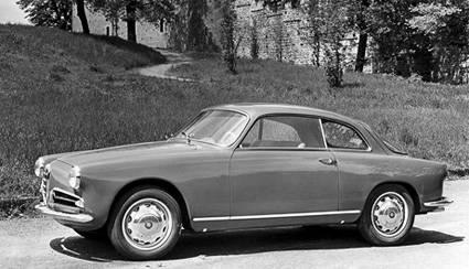 Alfa Romeo Giulietta Sprint 1954 года